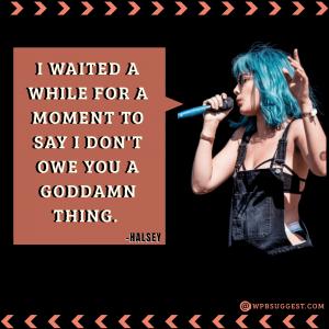 Halsey Quotes on attitude