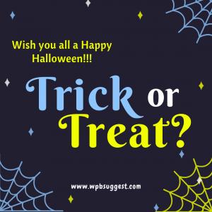 Halloween treats sayings