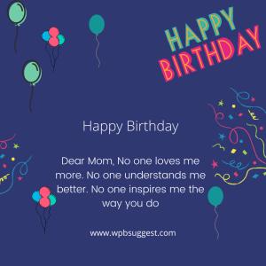 Greeting for Mom's Birthday