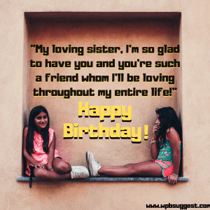 Birthday Wishes for young Sister