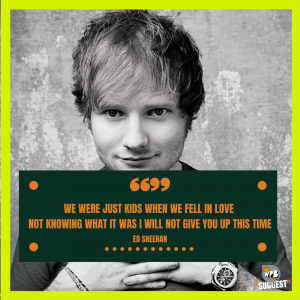 Ed Sheeran Sayings Image