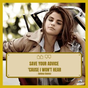 Selena Gomez Sayings Image