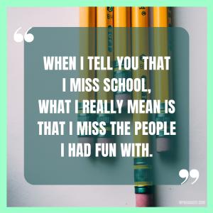Funny School Captions
