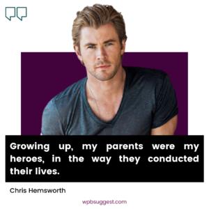 Chris Hemsworth Quotes Image