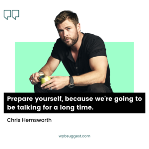 Chris Hemsworth Captions