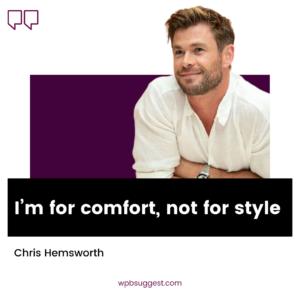 Chris Hemsworth Captions Image