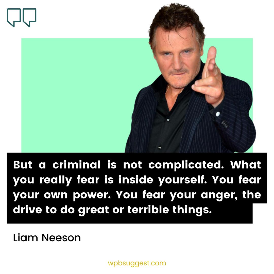 Liam Neeson Acting Quotes