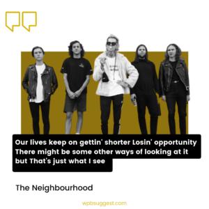 The Neighbourhood Lyrics
