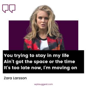 Zara Larsson Caption Image