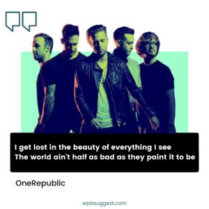 OneRepublic Quotes Wallpaper