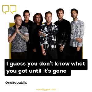 OneRepublic Lyrics Quotes