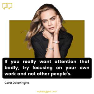 Cara Delevingne Quotes Image
