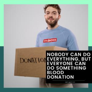Blood Donation Slogans Image